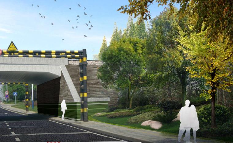 [江苏]宜兴科技工业园道路景观规划方案-绿园路-新长铁路涵洞改造效果