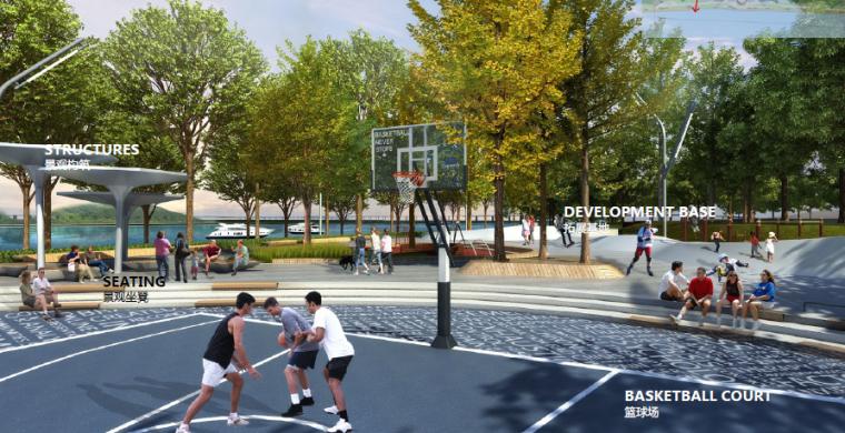 [湖北]宜昌山水新城滨江公园景观设计方案-林下运动场效果图