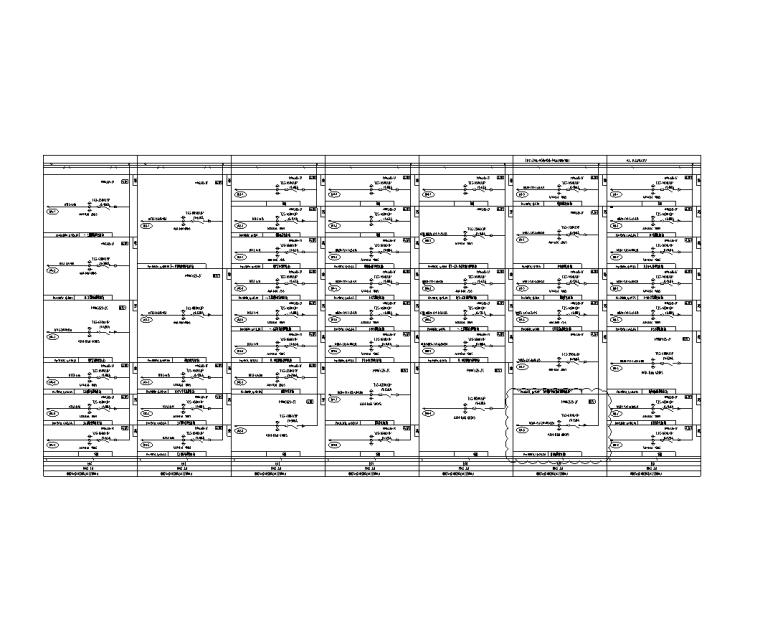 大院 大型金融中心全专业初步设计施工图-变电所低压配电柜系统图(三)