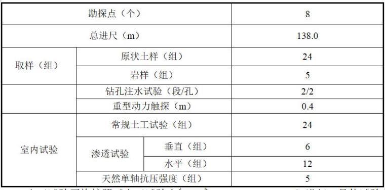 水库大坝安全质量评价-完成工作量统计表