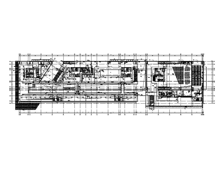 大院 大型金融中心全专业初步设计施工图-电-二层动力平面图_t3-A