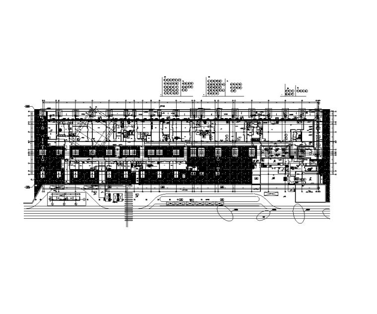 大院 大型金融中心全专业初步设计施工图-地下一层干线平面图