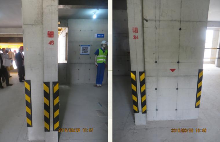 建筑工程施工项目参观优秀做法PPT-09 底层轴线标识