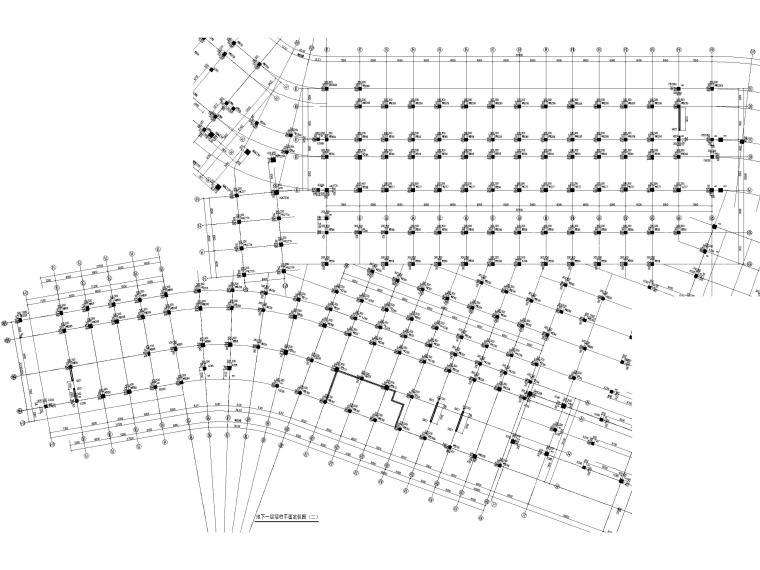 [深圳]8层少墙框架结构公共教学楼结施2018-地下室墙柱平面定位及配筋详图
