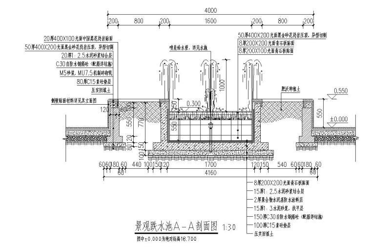 经典景观跌水池做法详图设计 (5)