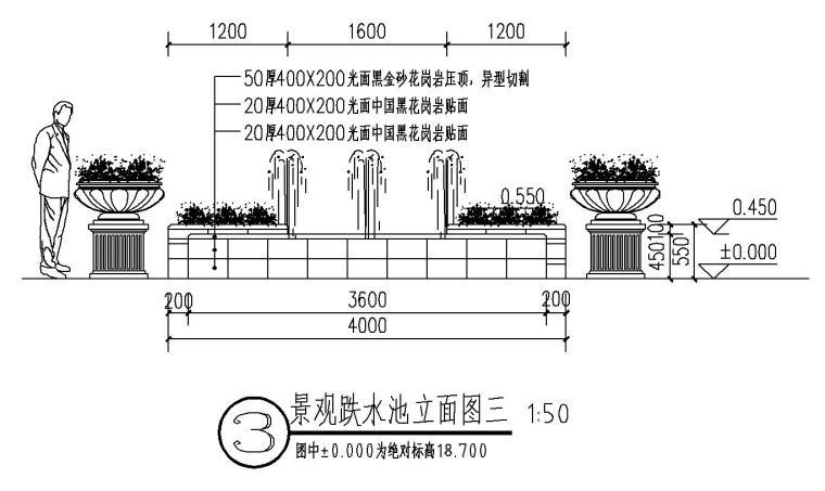 经典景观跌水池做法详图设计 (4)