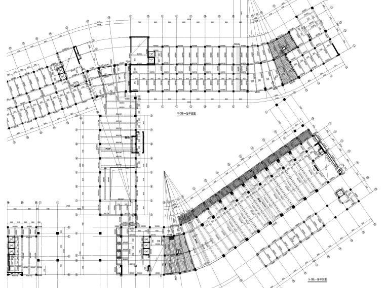 [深圳]8层少墙框架结构公共教学楼结施2018-结构平面布置图
