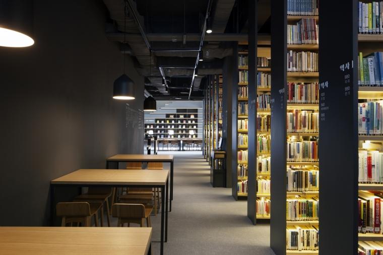 韩国独山图书馆室内实景图4