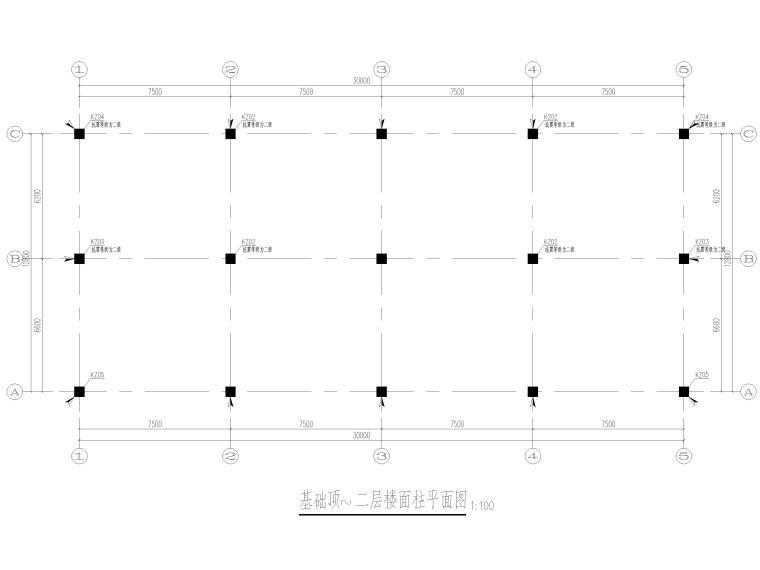 [上海]2层框架结构医学研发中心结施图2017-柱平面图