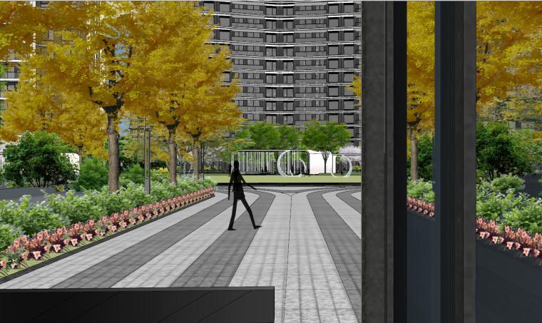 知名企业现代风格未来悦大区景观su模型设计 (3)