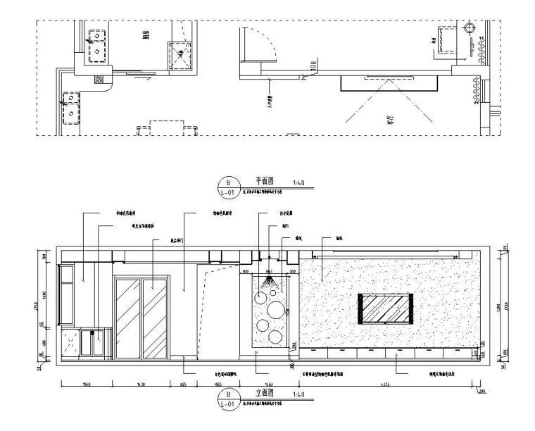 [江西]混搭中式风格116㎡住宅装修施工图-立面图