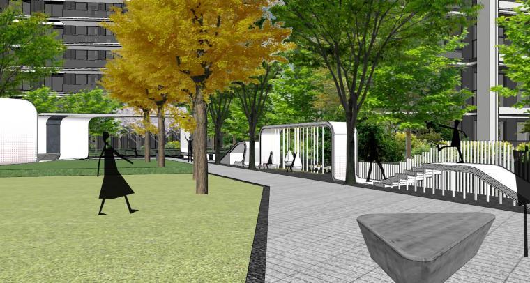 知名企业现代风格未来悦大区景观su模型设计 (8)