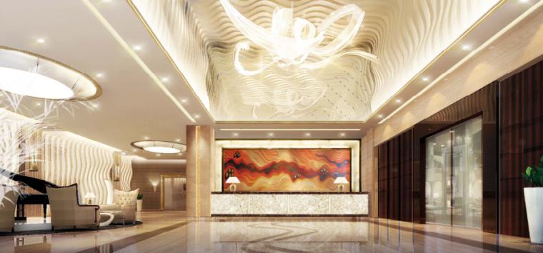 镇江酒店装饰工程方案设计-3-大堂方案一