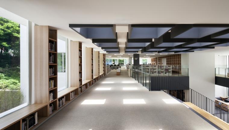 韩国独山图书馆室内实景图9