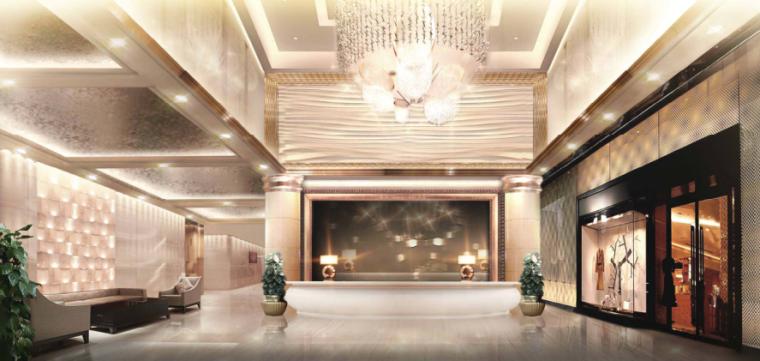 镇江酒店装饰工程方案设计-4-大堂方案二