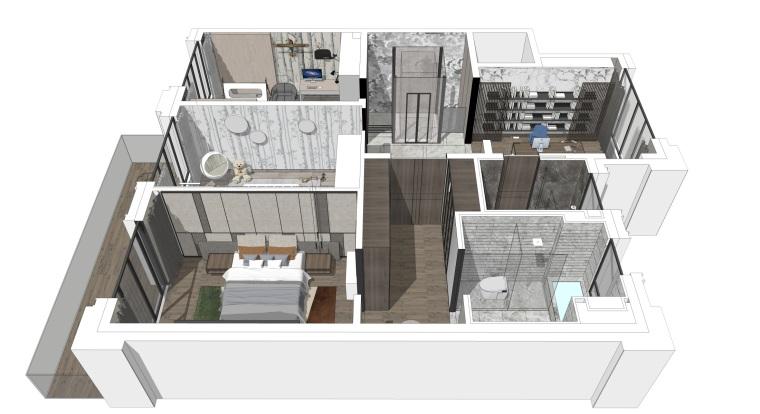 北京别墅样板间设计方案+设计方案_93P-0036