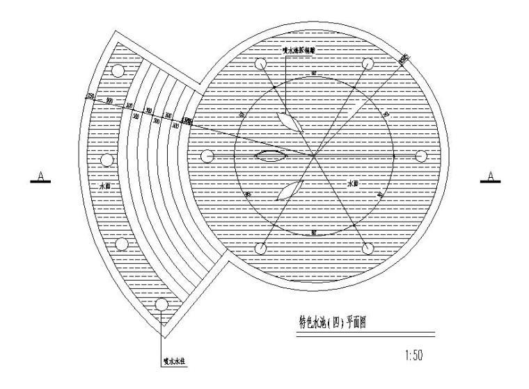 现代风格水池设计大样节点详图 (1)