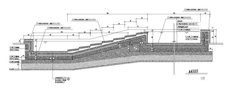 现代风格水池设计大样节点详图 (3)