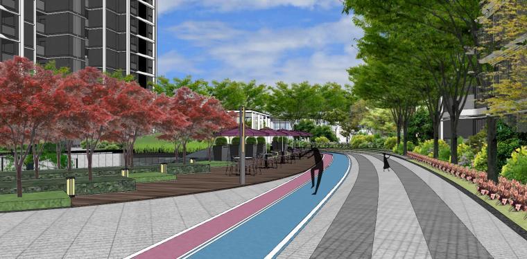 知名企业现代风格未来悦大区景观su模型设计 (16)