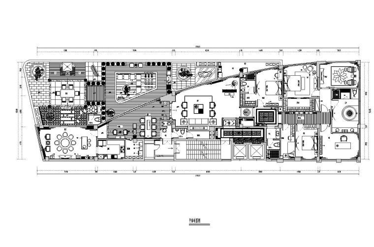 [福建]水岸名居现代风格住宅装修施工图设计-01 平面布置图