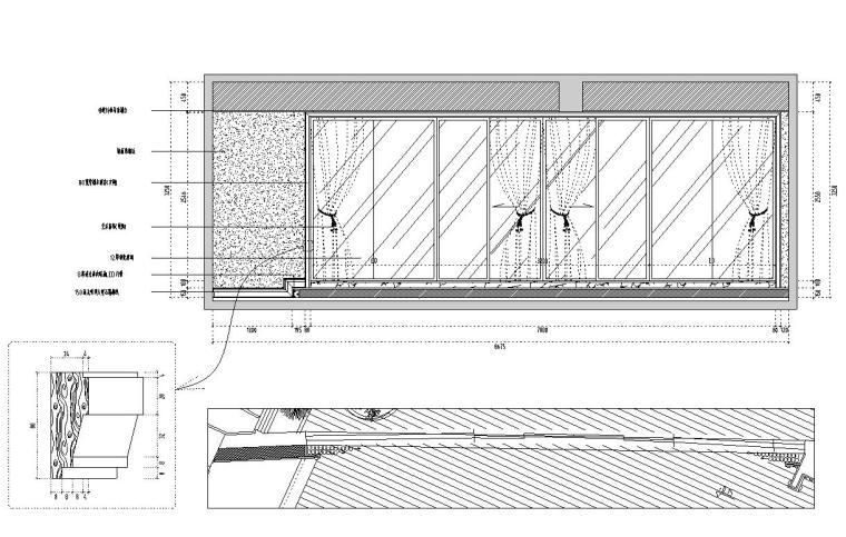 [福建]水岸名居现代风格住宅装修施工图设计-茶室立面图