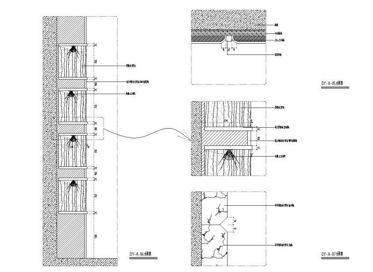 [福建]水岸名居现代风格住宅装修施工图设计-大样图