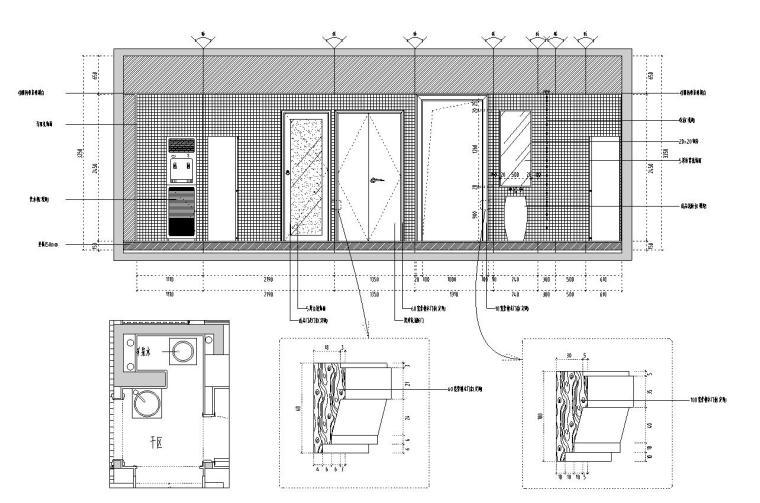 [福建]水岸名居现代风格住宅装修施工图设计-干区立面图