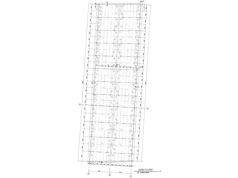 [苏州]46层框筒结构商务综合体结施图纸2018-钢连廊屋面檩条平面布置图
