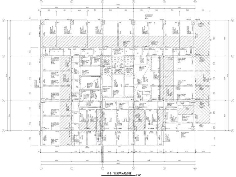 [苏州]46层框筒结构商务综合体结施图纸2018-梁平法配筋图