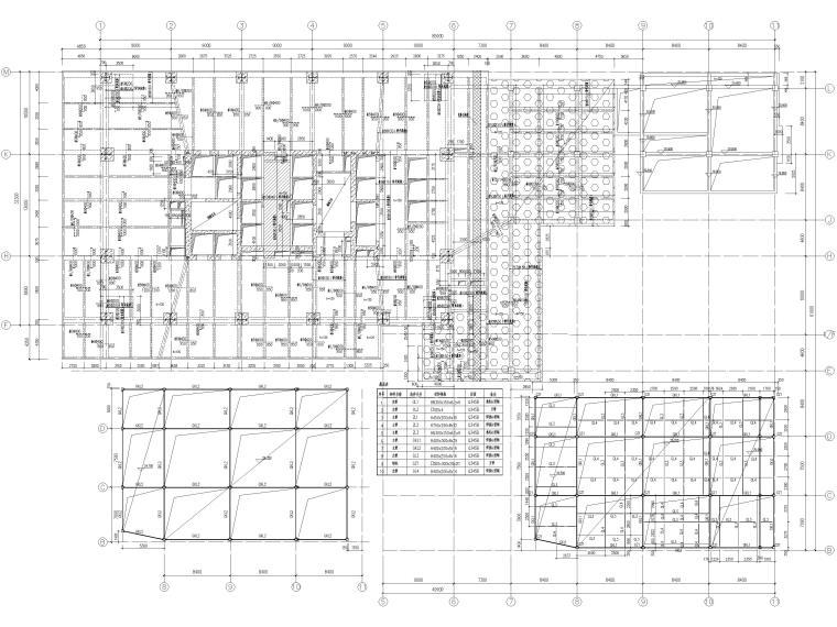 [苏州]46层框筒结构商务综合体结施图纸2018-裙房模板及板配筋图
