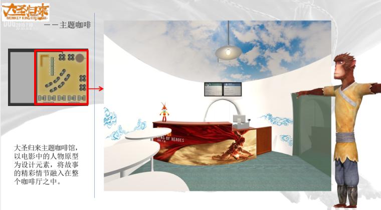 大圣归来主题咖啡室内设计-3-大圣归来主题咖啡馆