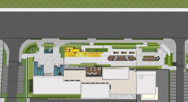 现代简约都会四季住宅展示区景观SU模型设计 (3)
