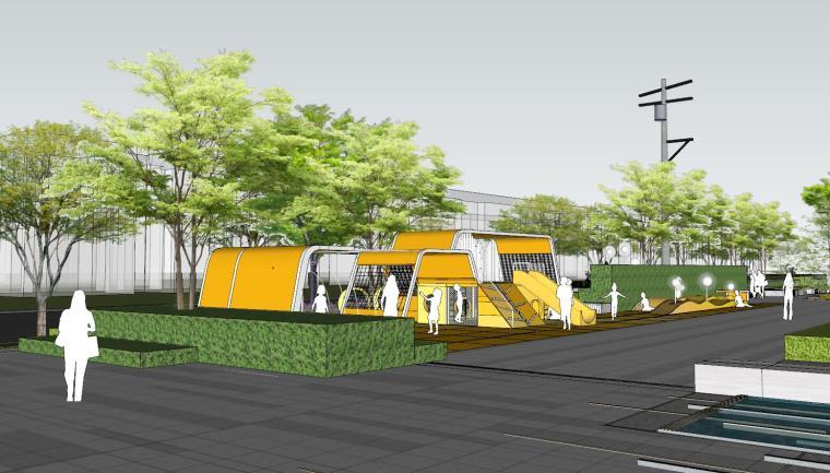 现代简约都会四季住宅展示区景观SU模型设计 (5)