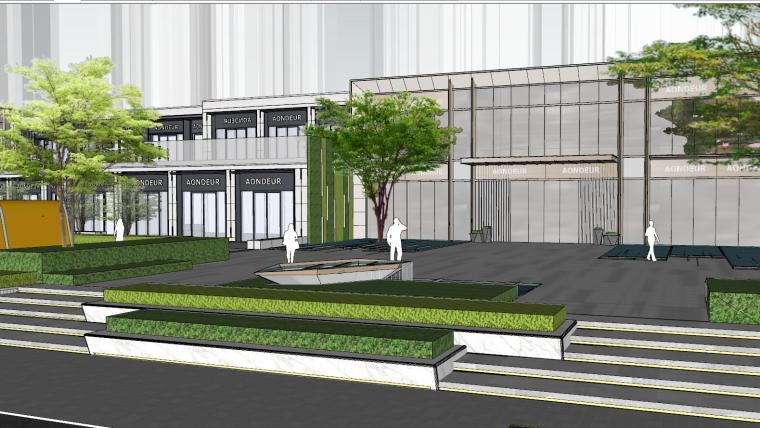 现代简约都会四季住宅展示区景观SU模型设计 (4)