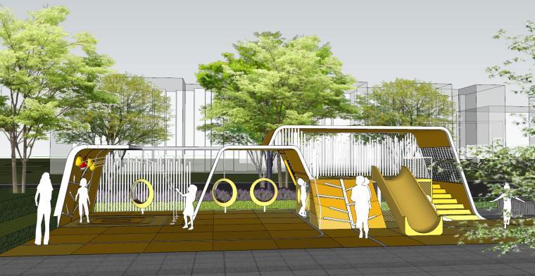 现代简约都会四季住宅展示区景观SU模型设计 (6)