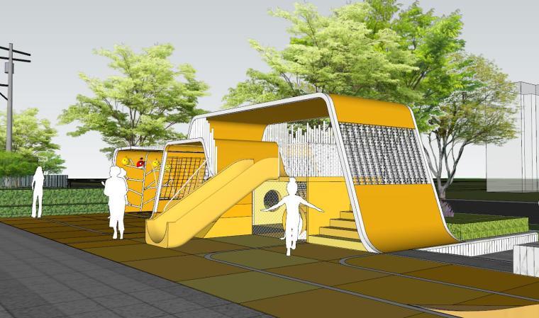 现代简约都会四季住宅展示区景观SU模型设计 (7)