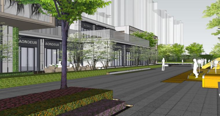 现代简约都会四季住宅展示区景观SU模型设计 (9)