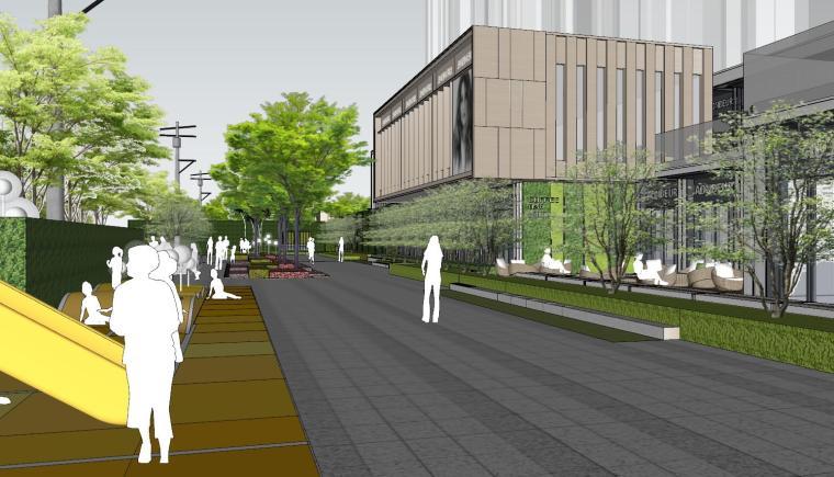 现代简约都会四季住宅展示区景观SU模型设计 (8)