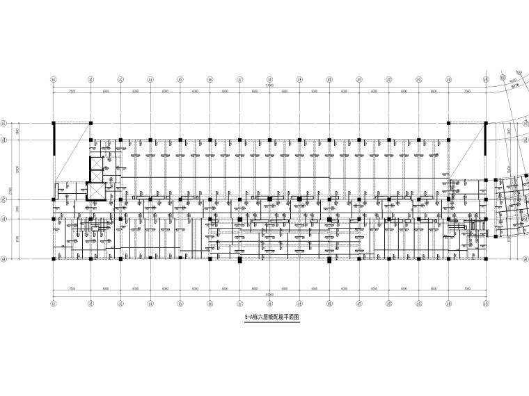 [深圳]8层少墙框架结构公共教学楼结施2018-板配筋平面图