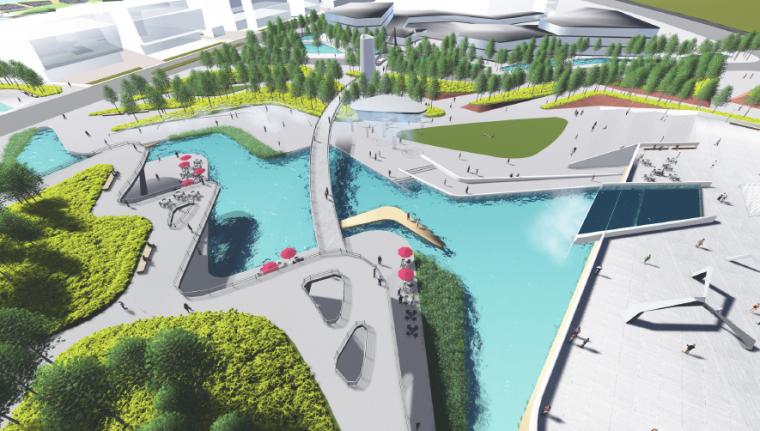 [长沙]休闲活力市民公园景观设计方案-鸟瞰效果图2
