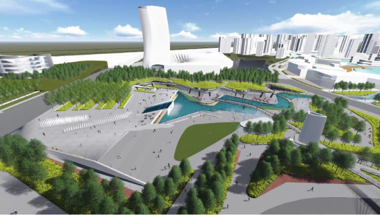 [长沙]休闲活力市民公园景观设计方案-鸟瞰效果图4