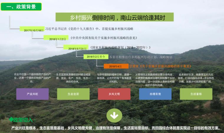 甘肃天水南山云端田园综合体方案文本-2019-政策背景