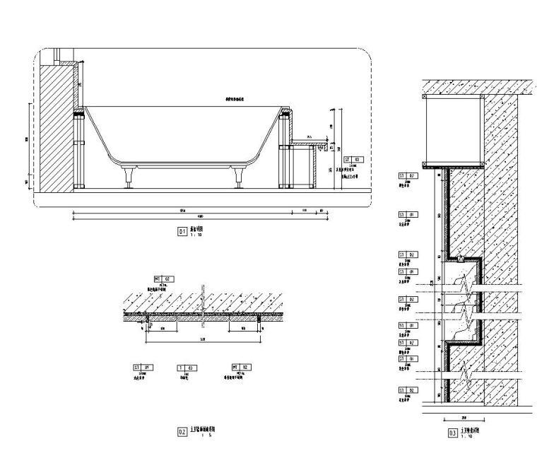 现代风格三居室142㎡住宅装修施工图设计-大样详图