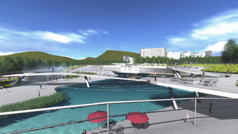 [长沙]休闲活力市民公园景观设计方案-市民广场效果图2
