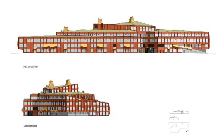 瑞典知识教育中心大厦立面图