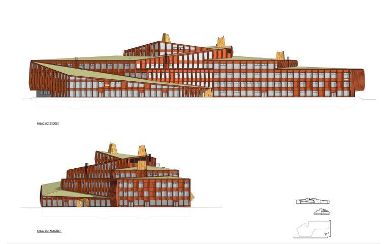 瑞典知识教育中心大厦立面图1