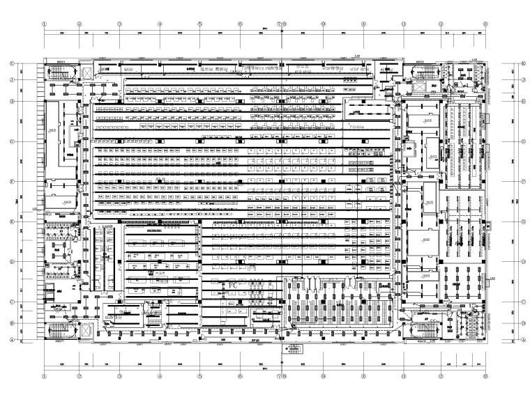 [广东]多层工业厂房电气招标图(含自控)-1插座照明平面图