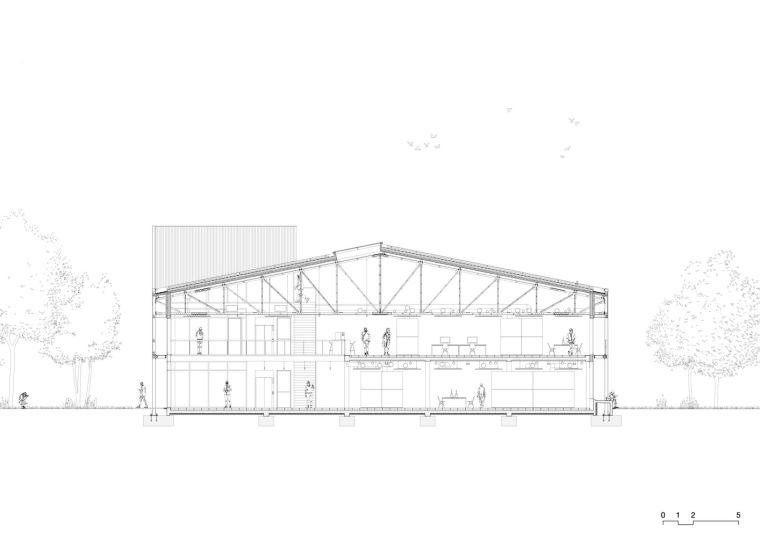 法国Additi办公楼剖面图