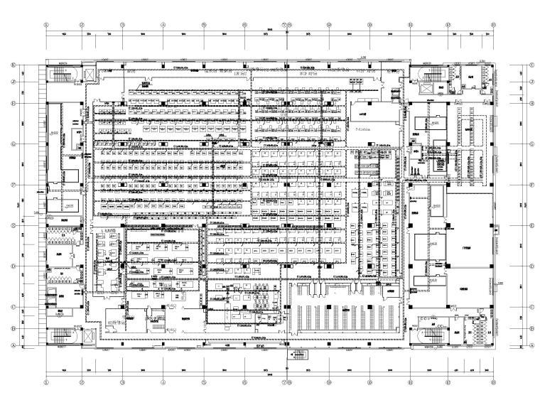 [广东]多层工业厂房电气招标图(含自控)-2桥架及配电干线平面图