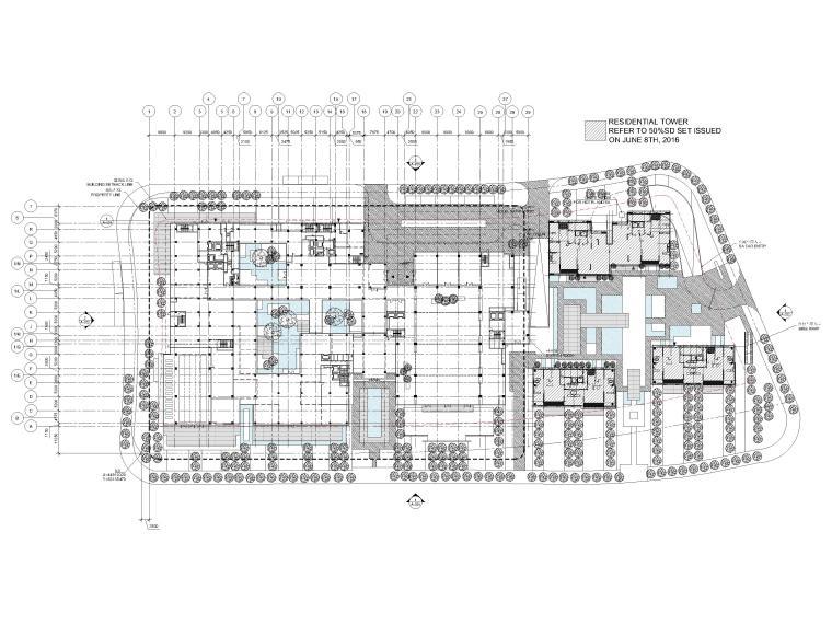 [江苏]苏州五星酒店客房方案+建筑图+效果图-一层平面图
